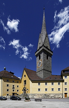 Ursulines church and monastery, Bruneck, Val Pusteria, Alto Adige, Italy, Europe