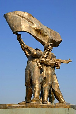 First Indochina War 1954, large bronze monument of the victory of the Viet Minh, Dien Bien Phu, Vietnam, Southeast Asia, Asia