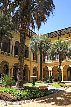 Inner yard of the Casa Rosada, presidential palace on the eastern side of the Plaza de Mayo Square, Buenos Aires, Argentina