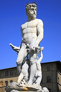 Neptune fountain in Florence, Tuscany, Italy, Europe