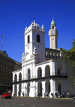 Old town hall, Cabildo Museum, at the Plaza de Mayo, Buenos Aires, Argentina, South America