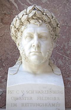 Bust of Karl Philipp Fuerst zu Schwarzenberg, Austrian field marshall