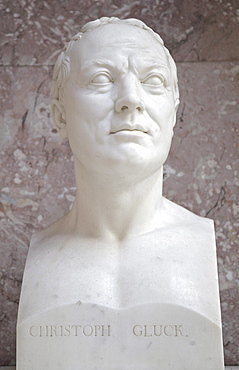 Bust of Christoph Willibald Gluck, German composer of the early Classical period