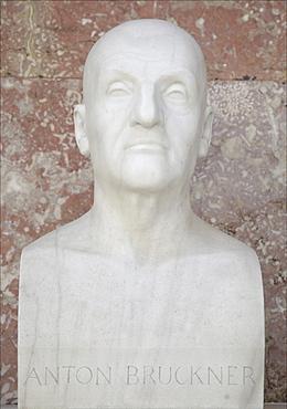 Bust of Anton Bruckner, Austrian composer of the late romantic era