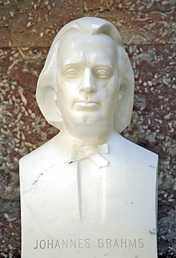 Bust of Johannes Brahms, German composer of the Romantic
