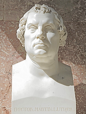 Bust of Martin Luther, Protestant reformer