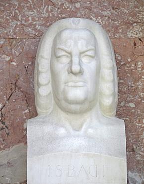 Bust of Johann Sebastian Bach, German composer