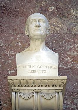 Bust of Gottfried Wilhelm Leibniz, German philosopher and scientist