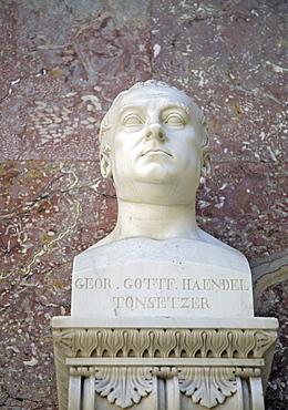 Bust of Georg Frederick Handel, German baroque composer