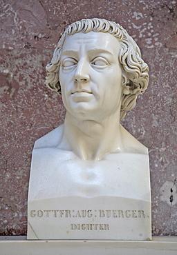Bust of Gottfried August Buerger, German poet