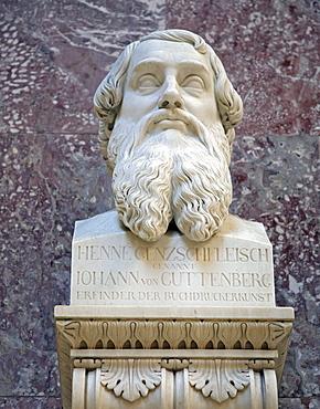 Bust of Johannes Guttenberg, inventor of letterpress printing