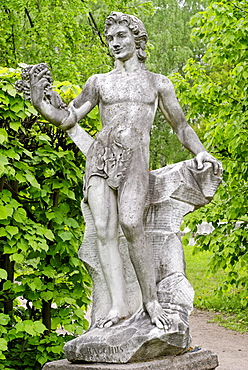 Statue of God Bacchus in the Koskovo Park, Kuskovo estate, Moscow, Russia