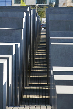 Geometric patterns of the Memorial for the Murdered Jews of Europe, Holocaust Memorial, Berlin, Germany, Europe