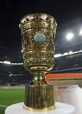 The DFB-Pokal, German Football-Federation Cup in the LTU-Arena football stadium, Duesseldorf, North Rhine-Westphalia, Germany, Europe
