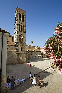 Sveti Stjpana Square, historic centre of Hvar, Hvar Island, Dalmatia, Croatia, Europe