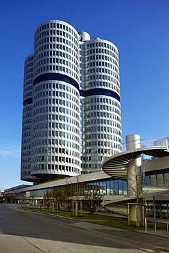 BMW Headquarters, cylindric building, Munich, Bavaria, Germany, Europe