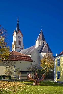 Parish church in Zwettl, Waldviertel or Forest Quarter, Lower Austria, Europe