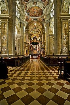 Baroque altar in the Collegiate Church in Klosterneuburg, Lower Austria, Austria, Europe