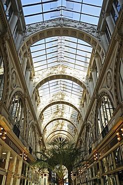 Glass roof, passage Pommeraye, shopping centre, Nantes, Pays de la Loire, France, Europe