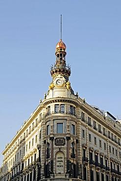 Front, Banco Espanol de Credito, bank, Calle de Alcala, Madrid, Spain, Europe
