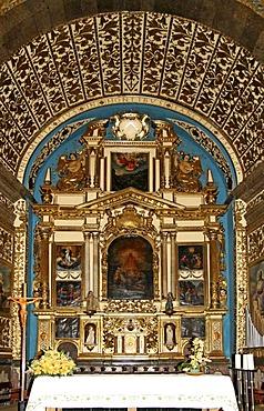 Altar, Lluc Monastery, El Santuari de Lluc, pilgrimage church, Escorca, Mallorca, Balearics, Spain, Europe