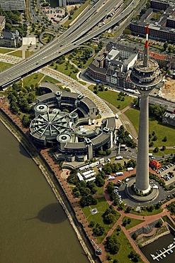Aerial photo Landtag building, Duesseldorf, North Rhine-Westphalia, Germany, Europe