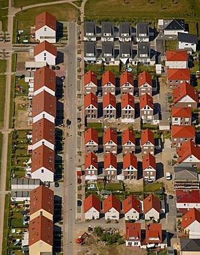 Aerial photograph, new housing estate, Siedlung Uechtmannstrasse, Gladbeck, Ruhr Area, North Rhine-Westphalia, Germany, Europe
