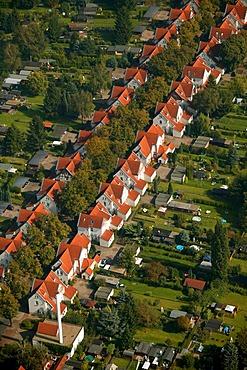 Aerial photograph, Brambauer community, Karl-Haarmann-Strasse, Luenen, Ruhr area, North Rhine-Westphalia, Germany, Europe