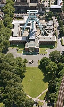 Aerial photo, Bochum mining museum, pit-head tower, cultural memorial, Bochum, Ruhr area, North Rhine-Westphalia, Germany, Europe