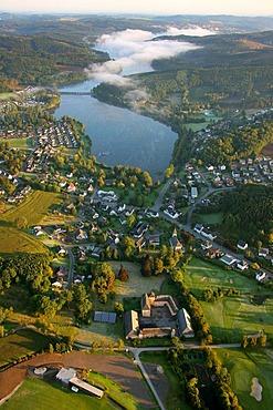 Aerial photograph, Sorpesee, Sundern, Amecke, Illingheim, Sauerland, North Rhine-Westphalia, Germany, Europe