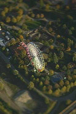 Aerial photograph, Centro Amusement Park, Centropark, shopping center, Neue Mitte, Oberhausen, Ruhr Area, North Rhine-Westphalia, Germany, Europe