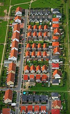Aerial picture, block buildings, terraced houses, Berliner Strasse Uechtmannstrasse Einsteinweg building area, Gladbeck, Ruhr area, North Rhine-Westphalia, Germany, Europe