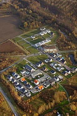 Aerial picture, Heessen, Westberger Weg building area, Hamm, Ruhr area, North Rhine-Westphalia, Germany, Europe