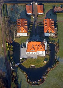 Castle Dieprahm Dieprahmsweg Wuestlich Opto-Electronic, Kamp-Lintfort, Ruhr area, Rhineland, North Rhine-Westphalia, Germany, Europe