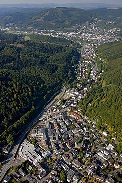 Aerial photo, Plettenberg, Maerkischer Kreis, Sauerland, North Rhine-Westphalia, Germany, Europe