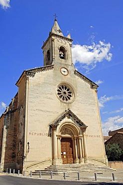 Church, Villes-sur-Auzon, Vaucluse, Provence-Alpes-Cote d'Azur, Southern France, Europe