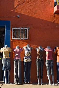 Mannequins in front of a clothing shop, Coro, UNESCO World Heritage Site, Venezuela, South America