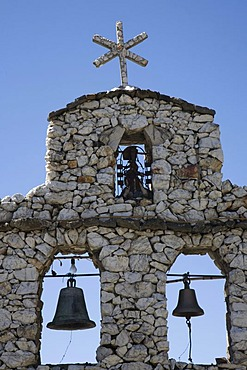 Bell-tower of the chapel in San Rafael, Mucuchies, Venezuela, South America