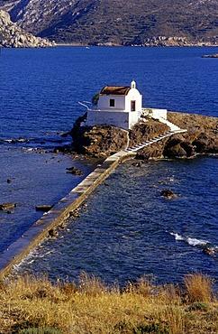 Greek Orthodox chapel Agios Isidoros on Leros Island, Dodecanese, Greece, Europe