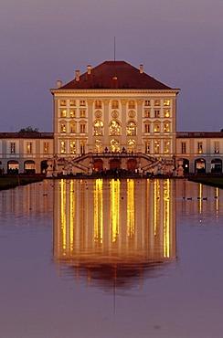 Nymphenburg Castle, Munich, Bavaria, Germany, Europe
