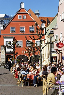 Kleiner Platz, Little Square, Erding, Upper Bavaria, Germany, Europe