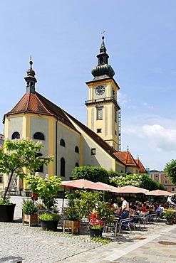 Parish church Mary Assumption, Pfarrplatz, Parish Square, Linz, Upper Austria, Europe