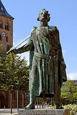 Memorial King Canute, Odense, Funen, Denmark, Europe