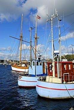 Harbor, Mariager, Jutland, Denmark, Europe