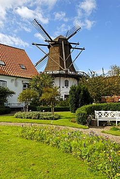 Wind mill, Hoejer, Jutland, Denmark, Europe