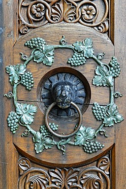 Strike plate on a church door, former monastery of the Cistercian order, Loccum, Lower Saxony, Germany, Europe