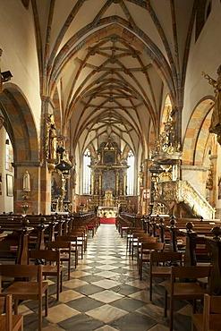 Parish church and former abbey church of Millstatt, interior view, Kaernten, Austria, Europe