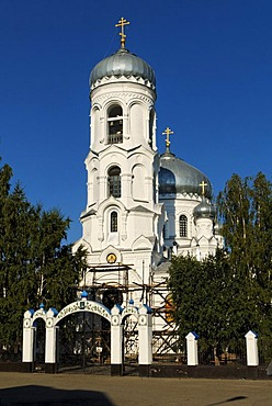 Russian-orthodox Cathedral in Bijsk, Siberia, Russia, Asia