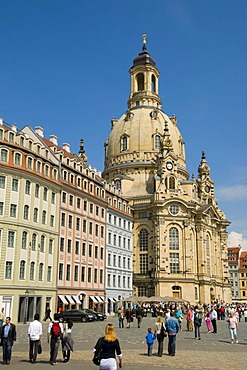 Neumarkt square with the Frauenkirche Church of Our Lady, old town, Dresden, Saxony, Germany