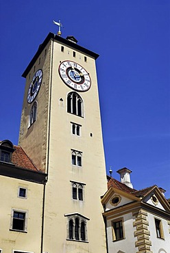 Guildhall, Regensburg, Upper Palatinate, Bavaria, Germany, Europe